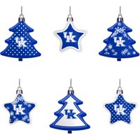 Kentucky Wildcats Six-Pack Shatterproof Tree And Star Ornament Set - No Size