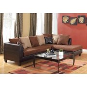 2-Pc Contemporary Sectional Set in Chocolate Finish