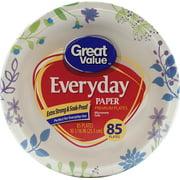 Great Value Everyday Paper Premium Plates, 85 Count