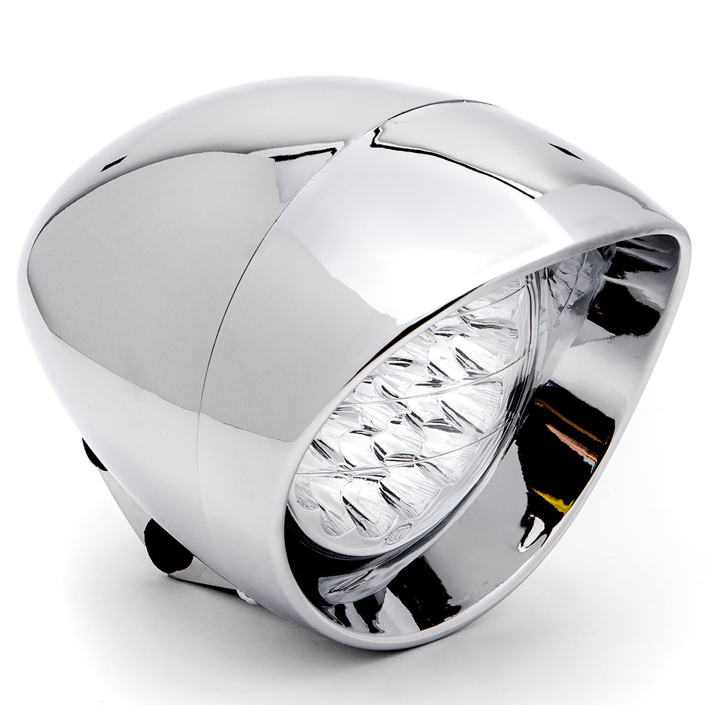 "Krator 7"" Chrome LED Headlight Cruiser Daytime Running and Low Beam for Kawasaki VN Vulcan Classic Nomad Drifter 1500 - image 1 de 6"
