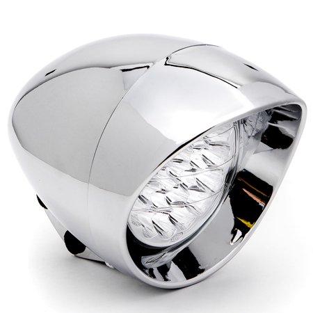 """Krator 7"""" Chrome LED Headlight Cruiser Daytime Running and Low Beam for Harley Davidson V-Rod Night Street V Rod - image 1 of 6"""