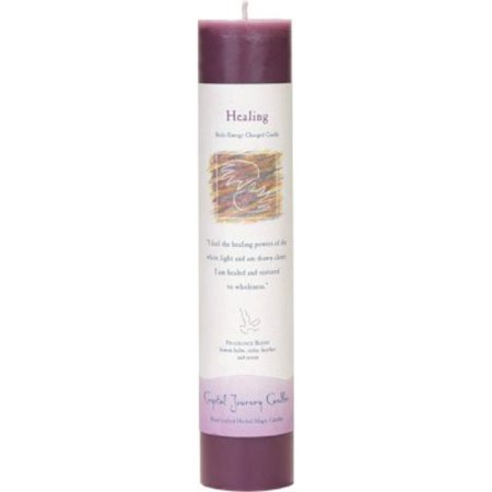 Crystal Journey Reiki Scented Pillar Candle - Healing