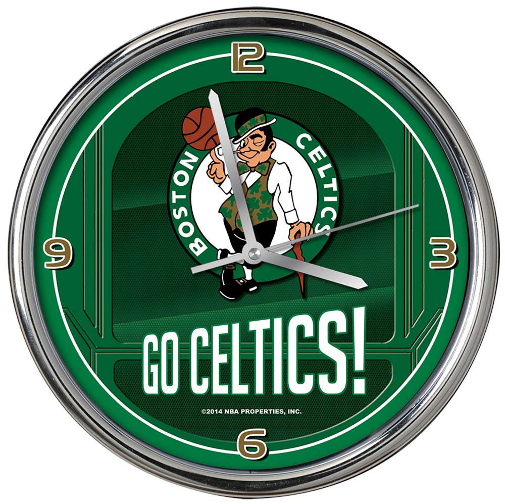 Boston Celtics Go Team Chrome Clock