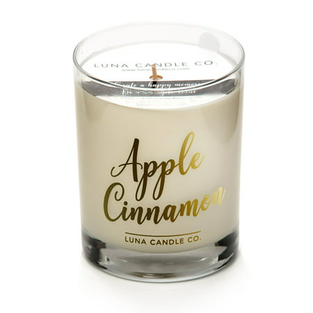 Strong Scented Apple Cinnamon Candle, Soy Wax, Pretty Kitchen Decor.
