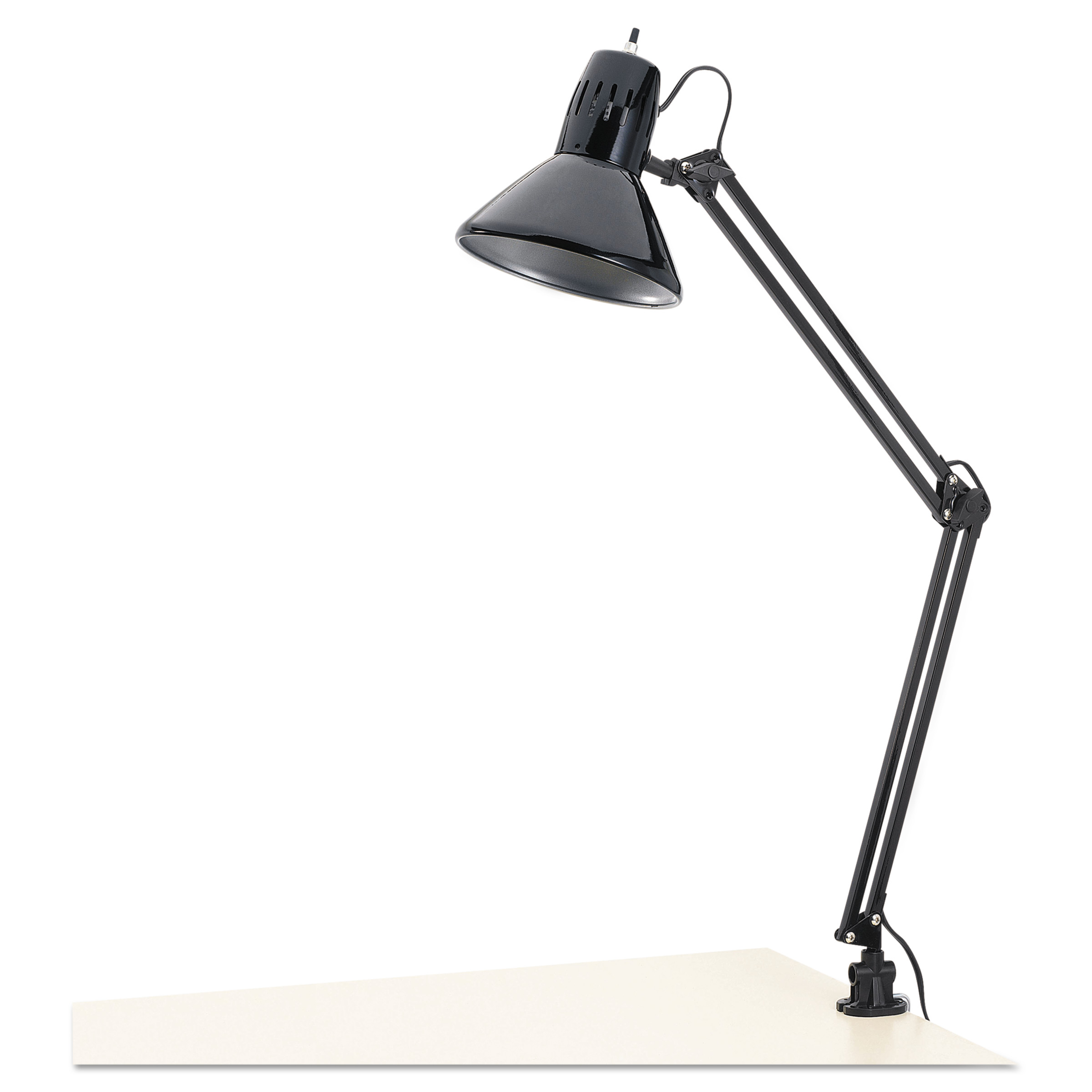 "Alera Architect Lamp, Adjustable, Clamp-on, 28"" High, Black by ALERA"