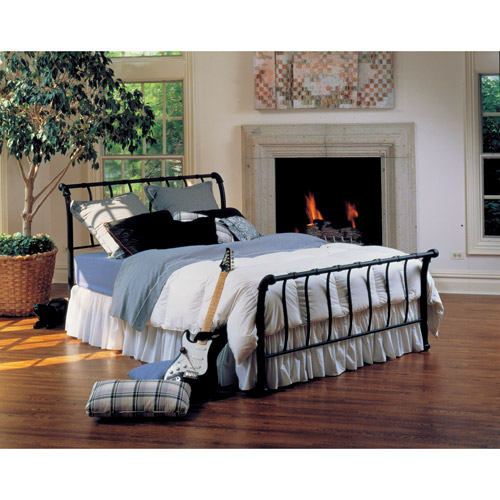 Hillsdale Janis Queen Metal Sleigh Bed, Black