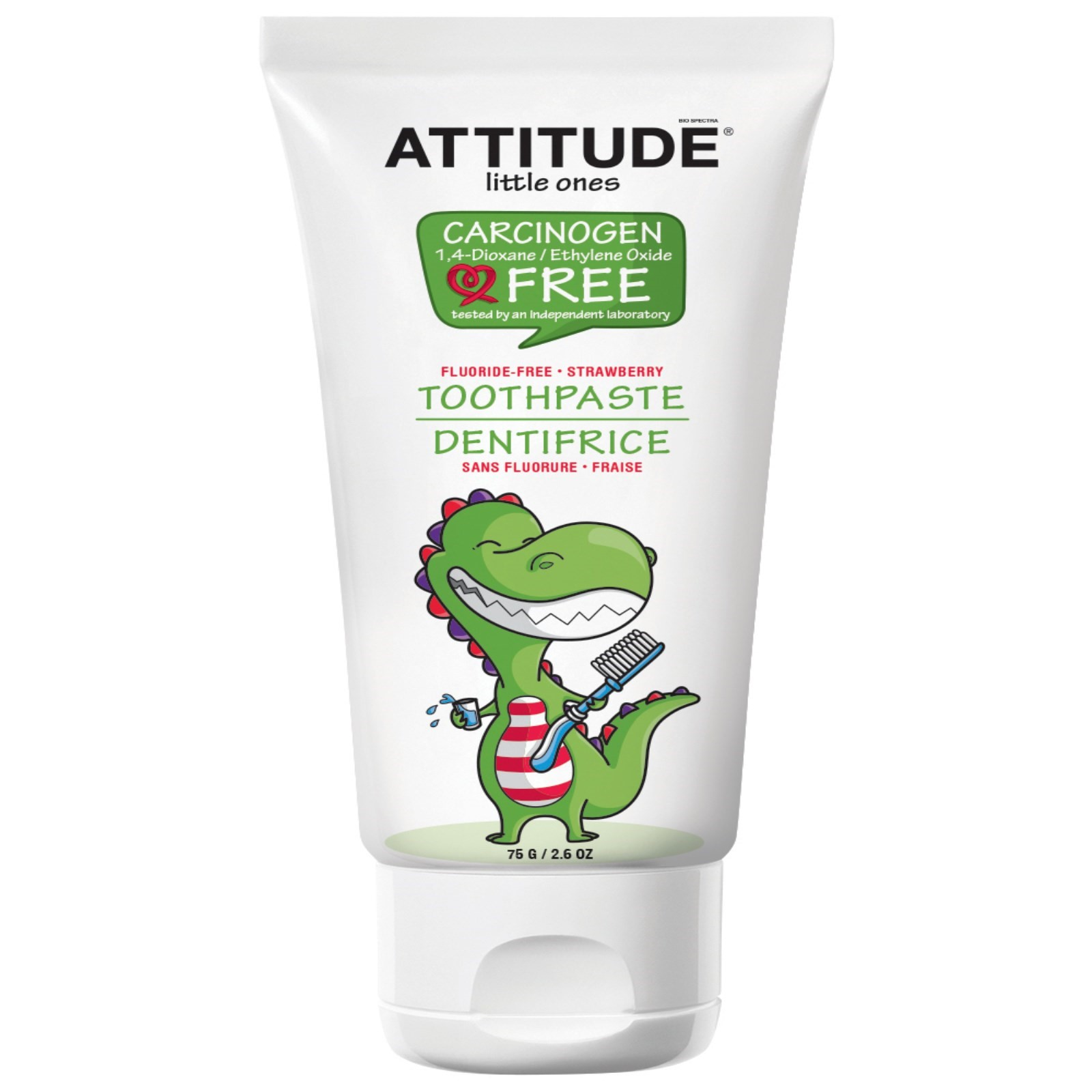 ATTITUDE little ones Fluoride Free Toothpaste Strawberry
