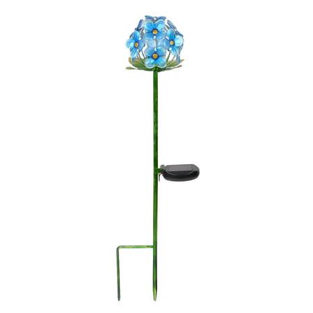 Sola Flower Ball (Peaktop - Outdoor Solar Flower Garden Stake - Blue )