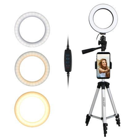Ring Light with Tripod Stand for Live Stream/Makeup for YouTube Video/Photography & 360 Degree Rotation Universal Cell Phone Holder for Samsung Galaxy Note8/9/S8/S8 Plus/S9/S9