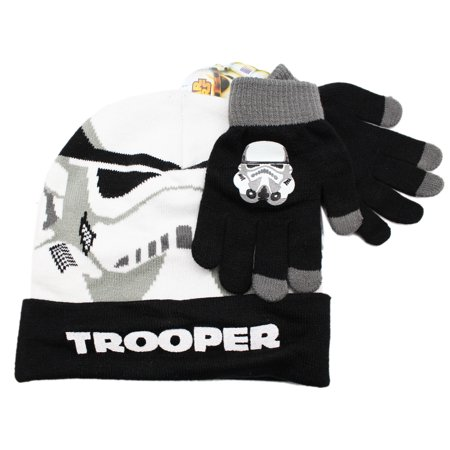 Star Wars Storm Trooper White/Black Kids Beanie and Glove Set for $<!---->