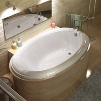 Atlantis Tubs 4478PCAL Petite 44 x 78 x 23 - Inch Oval Air Jetted Bathtub w/ Left Side Pump Placement
