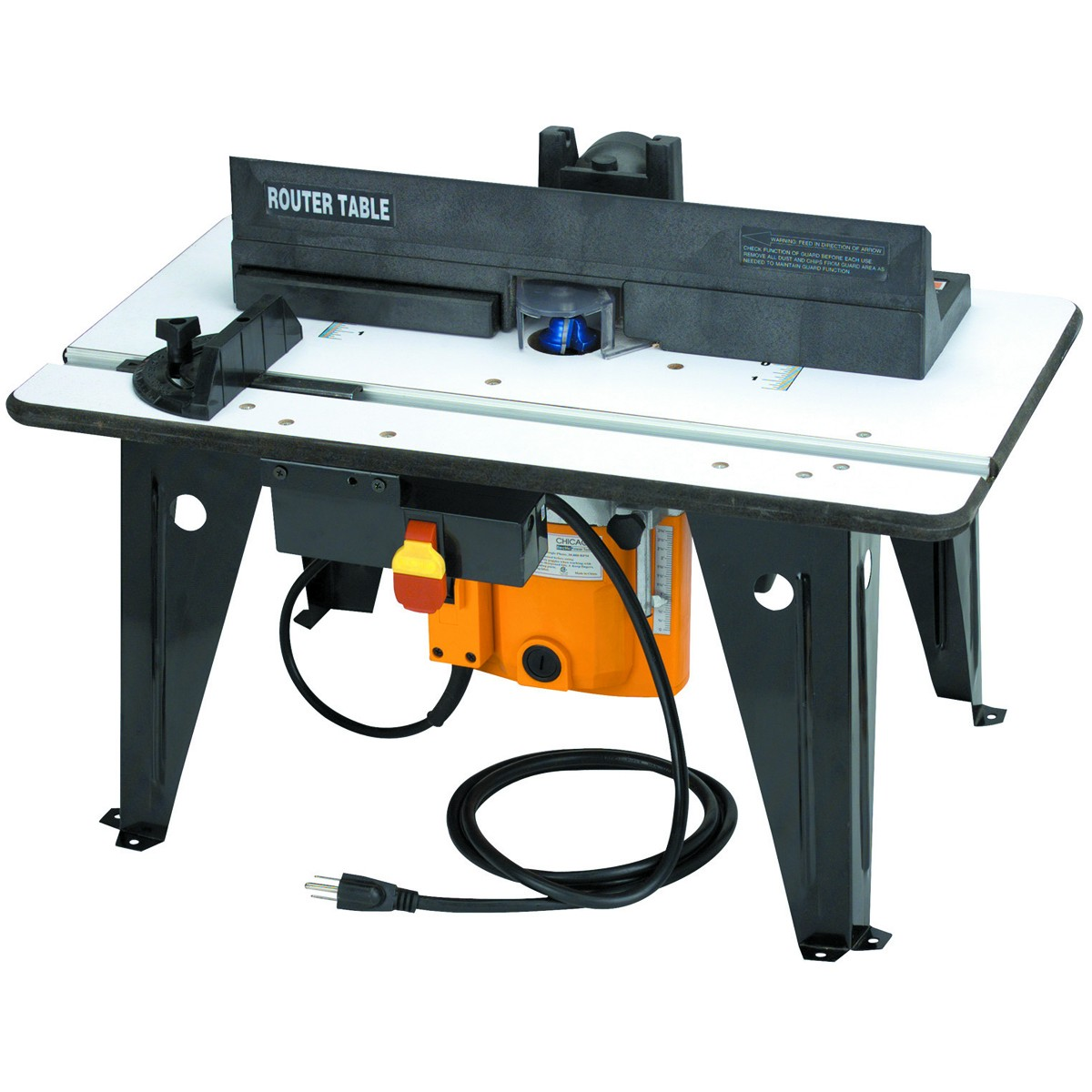 Chicago electric power tools benchtop router table with 1 34 hp chicago electric power tools benchtop router table with 1 34 hp router 20000 rpm 120 v walmart greentooth Gallery