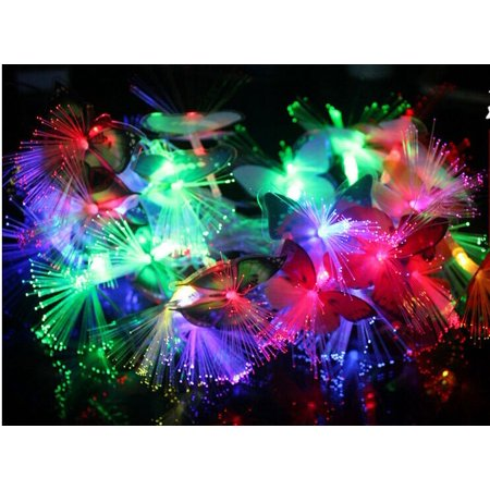 20 PCS LED Flashing 3D Butterfly Wall Decor Night Light Lamp Kids Bedroom Decor ()