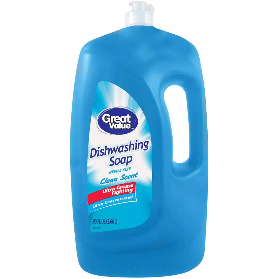 Great Value Ultra Concentrated Dishwashing Liquid, Clean Scent, 90 fl oz