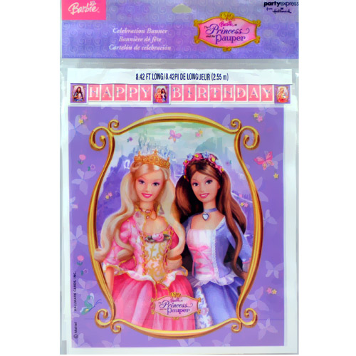 Barbie 'Princess and the Pauper' Birthday Banner