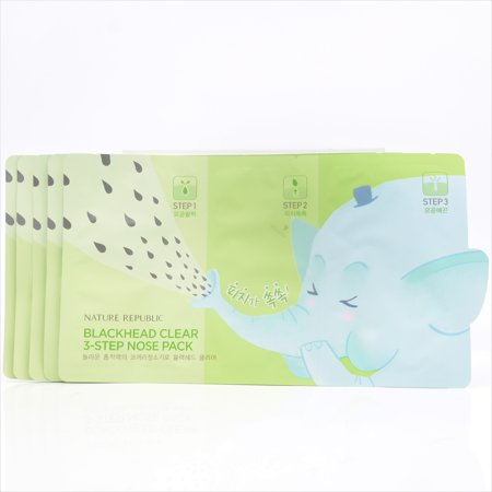Nature Republic Blackhead Clear 3-Step Nose Pack (5x of 6.2