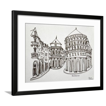 Bordeaux street scene in the old downtown area. Framed Print Wall Art By Richard Lawrence