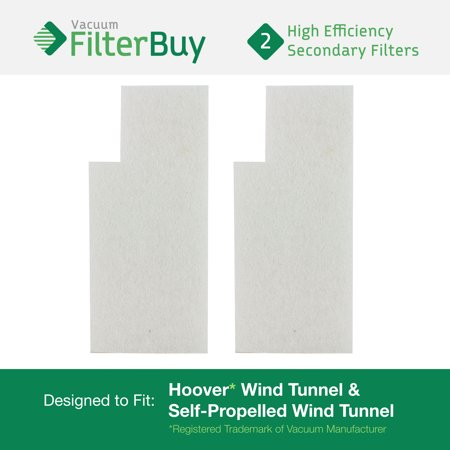 2 - Hoover WindTunnel Secondary Filters. Designed by FilterBuy to fit Hoover Tempo Widepath and Fold Away Vacuum Cleaners. Replaces Hoover parts 38765-019, 38765019, 38765023, and 38765-023.