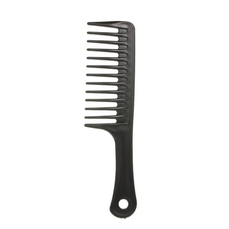 24.5cm Hair Brush Wide Tooth Comb Black ABS Heat-resistant Large Wide Tooth Comb For Hair Styling Tool (Pic For Hair)