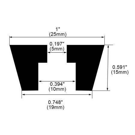 100pcs Rubber Feet Bumper Furniture Table Amplifier Speaker Chair Leg Pads, D25x19xH15mm - image 2 de 7