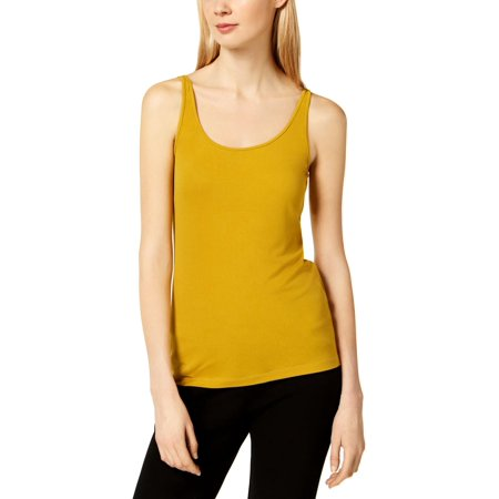 Eileen Fisher Silk Tunic - Eileen Fisher Womens Silk Scoop Neck Tank Top Yellow XXS