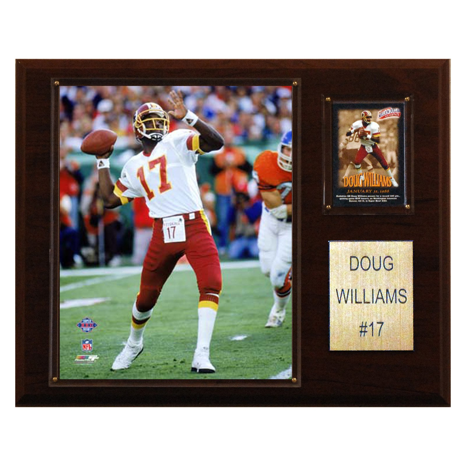 C&I Collectables NFL 12x15 Doug Williams Washington Redskins Player Plaque