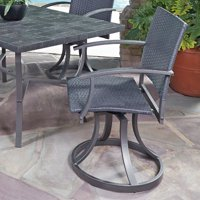 Stone Veneer Outdoor Swivel Chair