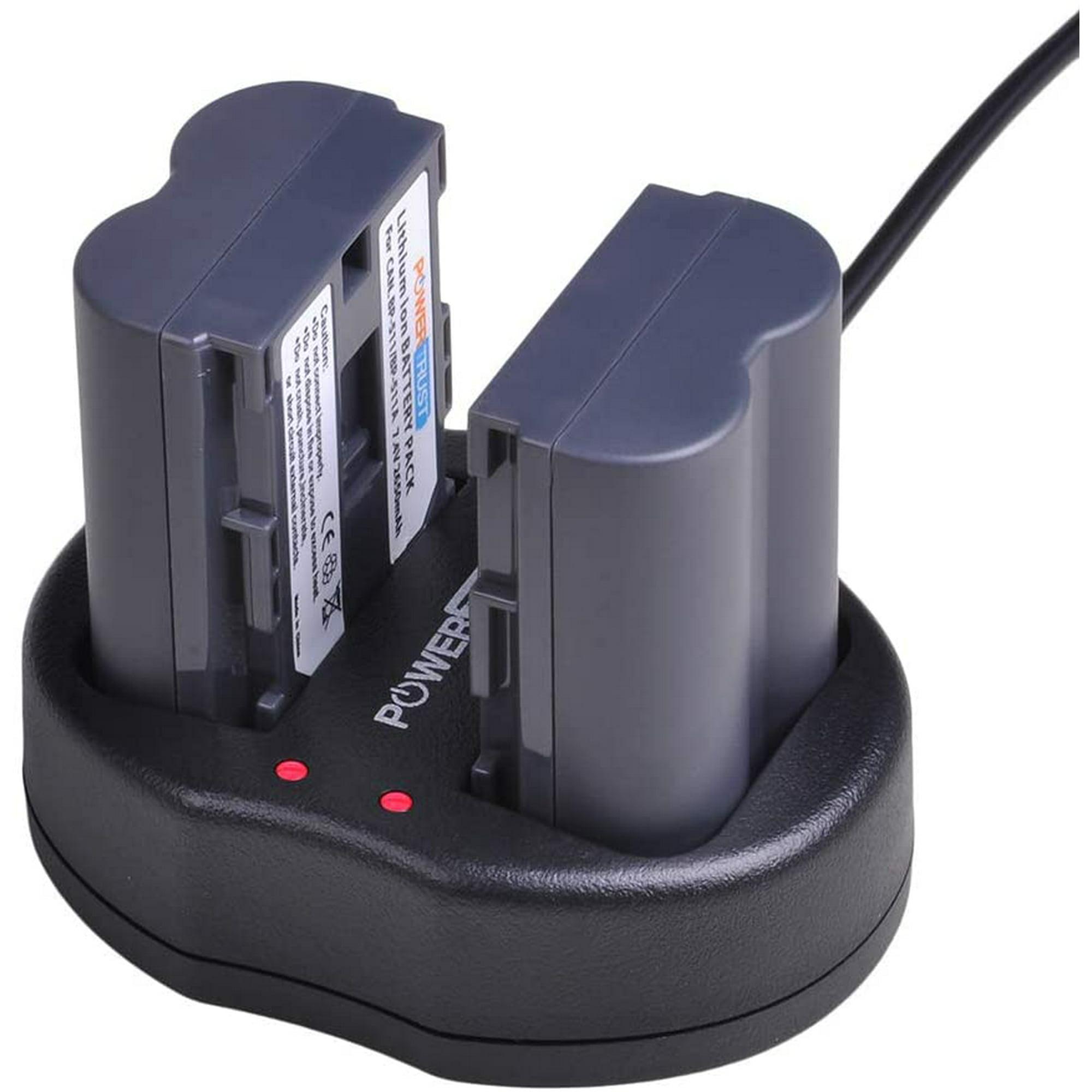 et Chargeur USB Costume pour Canon BP-511 BP-511A DSTE BP-511 Li-ION Batterie 2-Pack