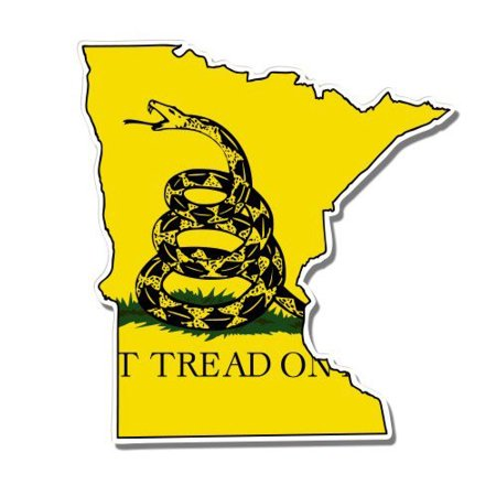 Minnesota Gadsden Flag Don't Tread on Me - Vinyl Sticker Waterproof Decal Sticker