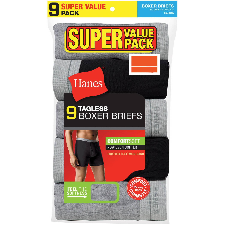 Hanes Men's ComfortSoft Boxer Briefs, 9 Pack