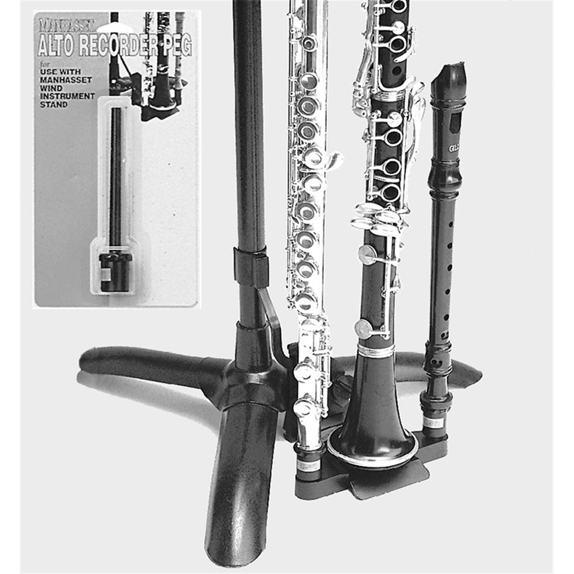 Manhasset #1460 Alto Recorder Peg, Music Stand Accessory by Manhasset