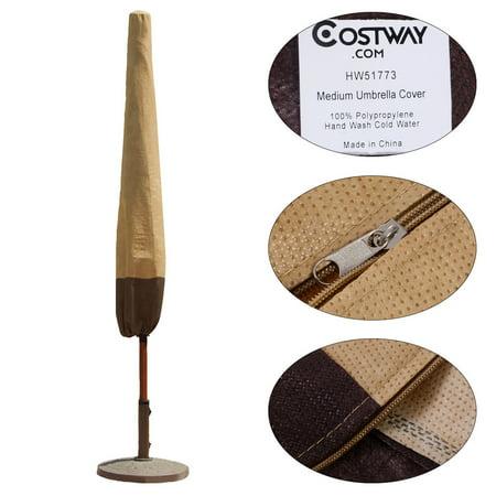 Costway 8 10 Ft Waterproof Umbrella Cover Outdoor Patio