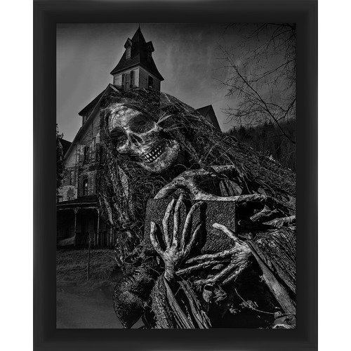 PTM Images Halloween Haunted House Framed Graphic Art