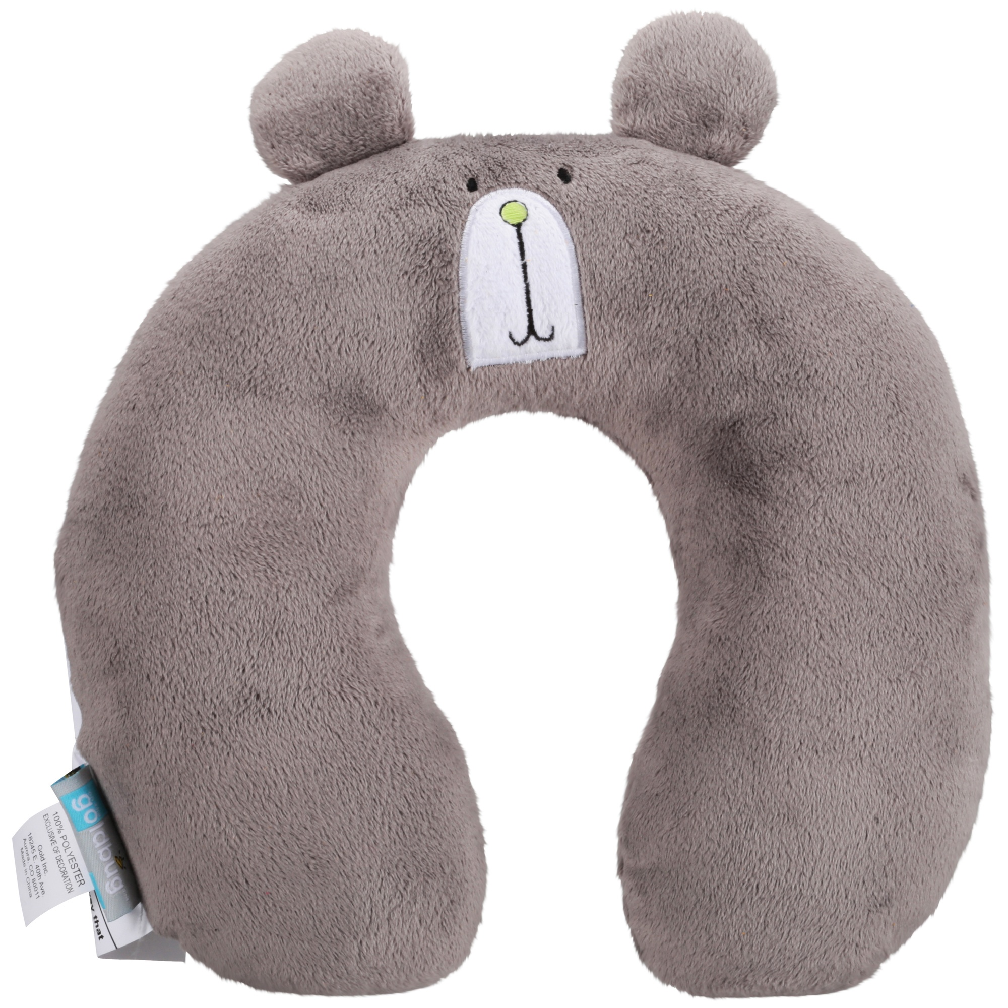 On the Goldbug™ Bear Animal Neck Roll Travel Pillow, Toddler Neck Support