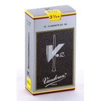 Vandoren Bb Clarinet V.12 Reeds Strength #3.5+; Box of 10