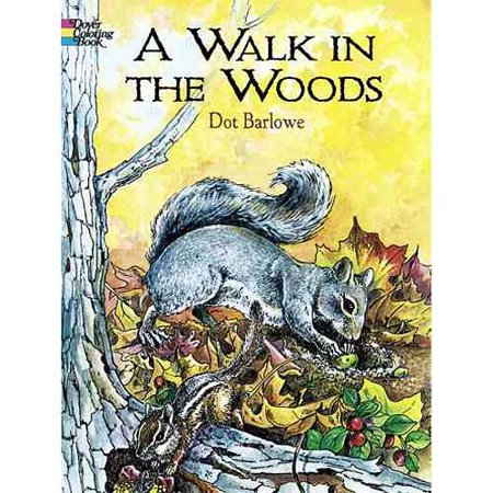 A Walk in the Woods Coloring Book by