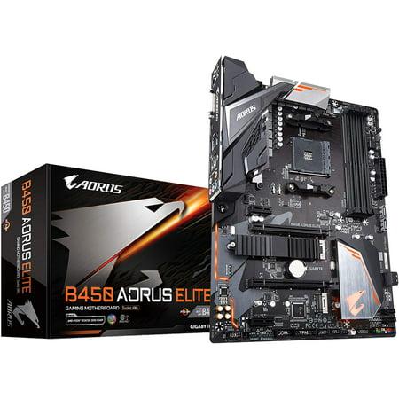 GIGABYTE B450 AORUS Elite (AMD Ryzen AM4/ M.2 Thermal Guard/Hmdi/DVI/USB 3.1/DDR4/ATX/Motherboard) Amd Based Motherboards