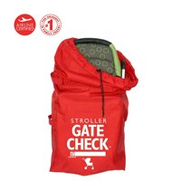 J.L. Childress Gate Check Bag For Standard and Double Strollers, Red, Protects your car seat from dirt and germs when checking it at the airplane gate. Airline.., By JL Childress