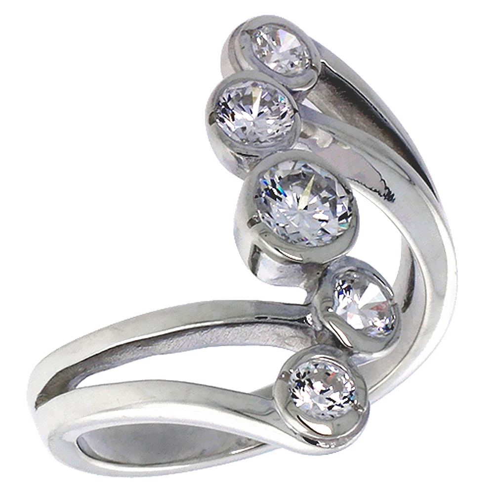 Sterling Silver Right Hand Ring 1 inch, sizes 6 - 10