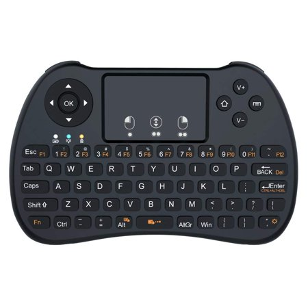 Aerb 2.4GHz Mini Wireless Keyboard with Mouse Touchpad Rechargeable Combos for PC, Pad, Google Android TV Box and