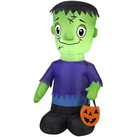 Halloween Sale (Gemmy 71019 Halloween Airblown Frankie Lighted Inflatable, 9-13/16