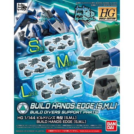 Bandai Divers Gundam Build Hands Edge Small Medium Large HG 1/144 Model