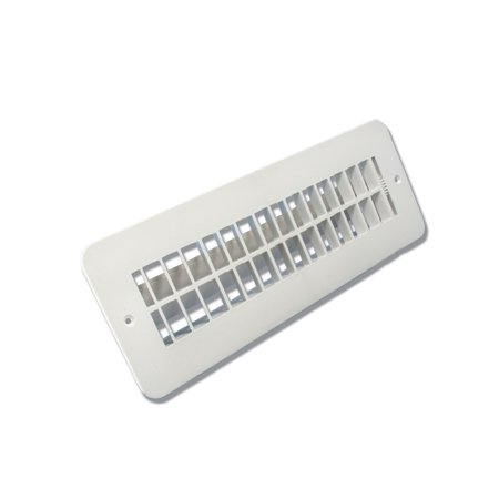 JR Products 288-86-A-PW-A Plastic Undampered Floor Register - 2