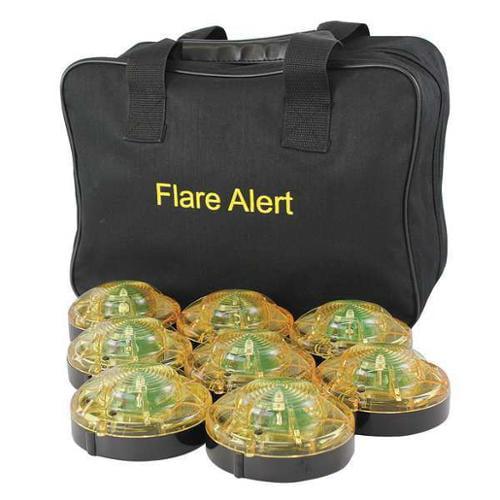 FLAREALERT B8YBP2ONLY LED Road Flare Kit, 1 Watt, Yellow