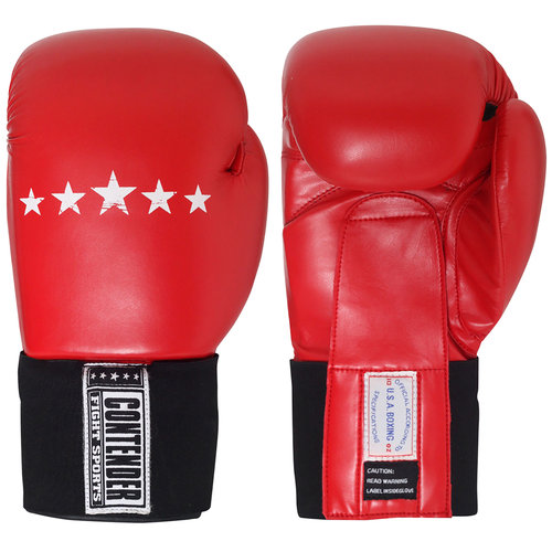 Contender Fight Sports Amateur Competition Gloves, 12 oz, Red