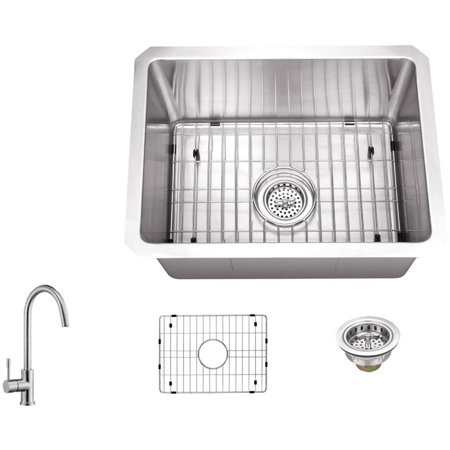 Magnus Sinks 15-in x 20-in 16 Gauge Stainless Steel Single Bowl Bar ...