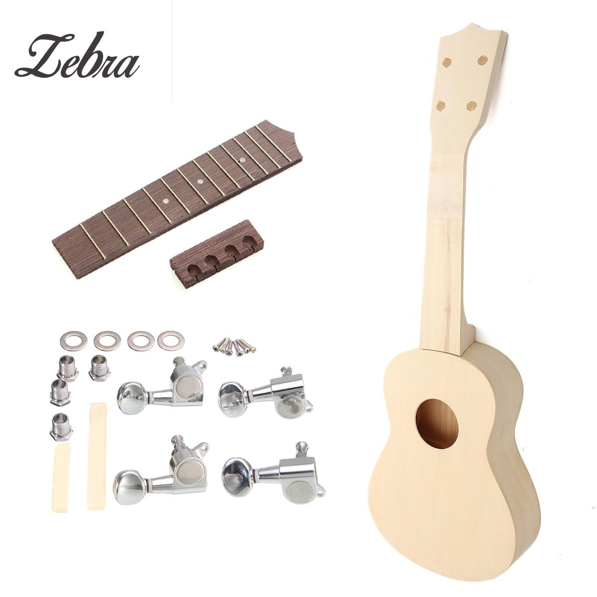 DIY 21'' Ukulele Soprano Wooden Musical Instruments Musical Instrument  Hawaiian Uke Guitar Kit Gift