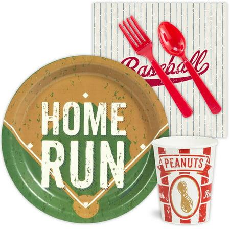 Baseball Party Standard Kit  Serves 8 Guests - Party Supplies - Baseball Napkins