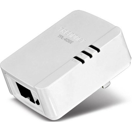 Trendnet 500 Mbps Compact Powerline Av Adapter   1 X Network  Rj 45    62 50 Mbps Powerline   984 Ft Distance Supported   Homeplug Av   Fast Ethernet