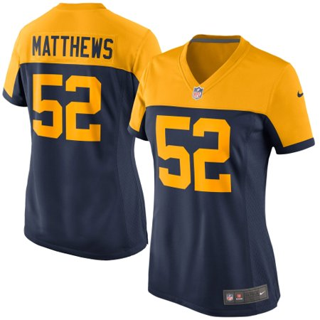 26641994 Clay Matthews Green Bay Packers Nike Women's Alternate Game Jersey - Navy